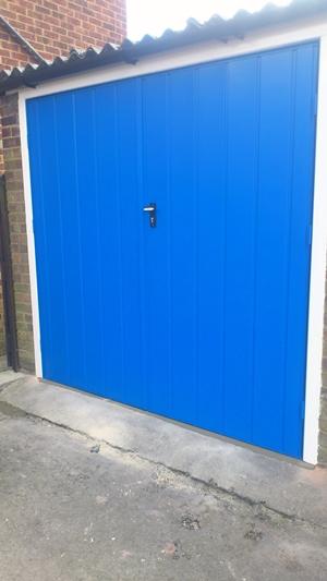 Fort Side Hinged Door In Light Blue. Chislehurst. & Garage Doors Chislehurst u0026 Garage Doors - RYTERNA pezcame.com