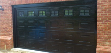 Double Sized Sectional Door By Hormann In Clic Black Finish Cross Effect Windows Farnborough South East London